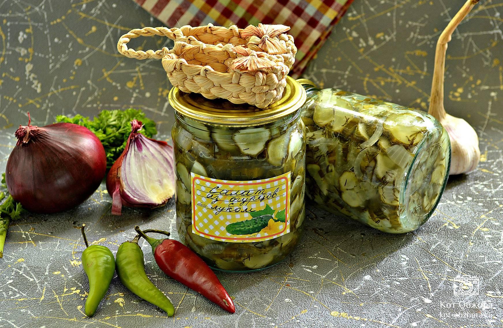 салат из репчатого лука на зиму рецепты