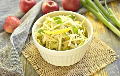 Салат с зелёной редькой и болгарским перцем